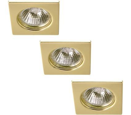 Светильник встраиваемый ARTE LAMP QUADRATISCH A2210PL-3GO