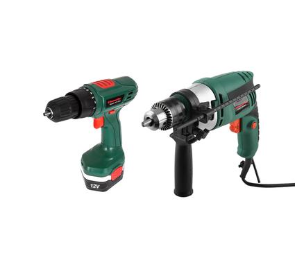 Набор: Дрель аккумуляторная HAMMER Flex ACD120LE + Дрель ударная Hammer Flex UDD500LE