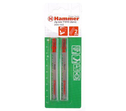 Пилки для лобзика HAMMER JG WD T101D (2шт.)