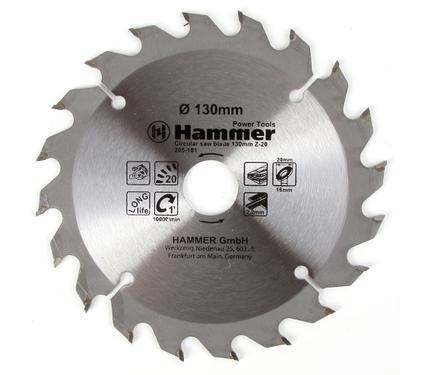 Диск пильный твердосплавный HAMMER 130х20/16мм 20 зуб.