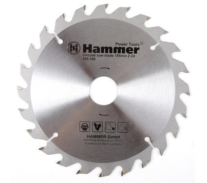 Диск пильный твердосплавный HAMMER 185х30/20мм 24 зуб.