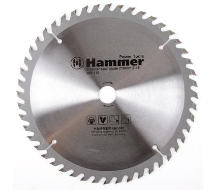 Диск пильный твердосплавный HAMMER 210х20/16мм 48 зуб.