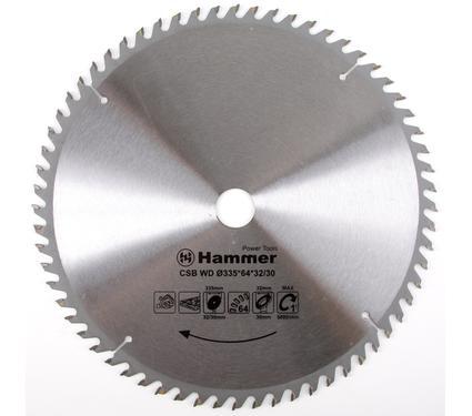 Диск пильный твердосплавный HAMMER 335х32/30мм 64 зуб.