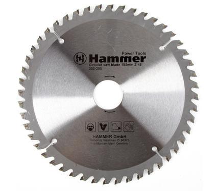 Диск пильный твердосплавный HAMMER 185х30/20мм 48 зуб.