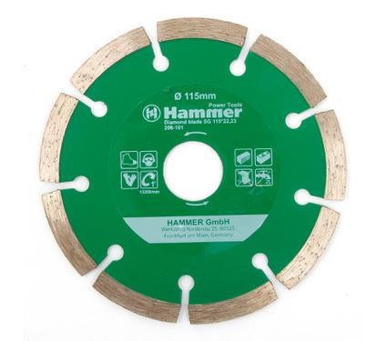 Круг алмазный HAMMER DB SG 115*22мм