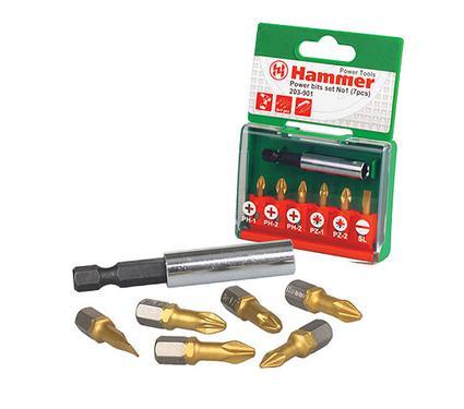 Набор бит HAMMER PB набор No1 (7шт.) Ph/Pz/Sl