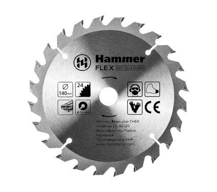 Диск пильный твердосплавный HAMMER 140х16мм 24 зуб.