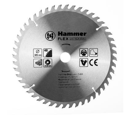 Диск пильный твердосплавный HAMMER 305х30мм 48 зуб.