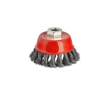 Кордщетка HAMMER 207-104  65*0,5*M14  чашеобразная  жесткая