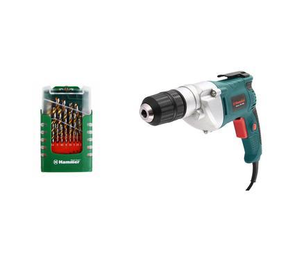 Набор: Дрель аккумуляторная HAMMER DRL500S PREMIUM + Набор сверел Hammer Flex 202-908 DR set No8 (29pcs)