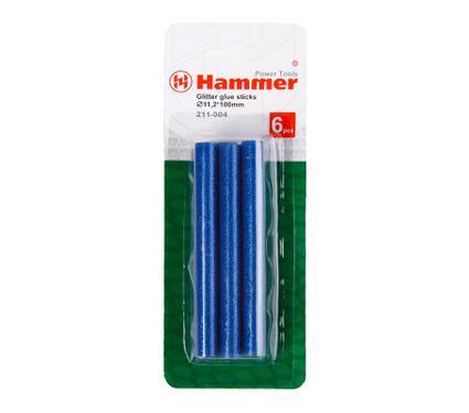 Стержни для клей-пистолетов HAMMER Стержни син. металлик 11.2мм, 100мм, 6 шт.