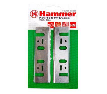 Ножи для рубанка HAMMER PB 110x29x3,0