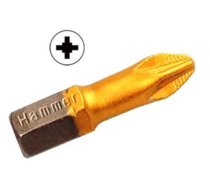 Бита HAMMER PB PZ-2 25мм (3шт.)
