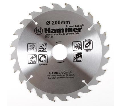 Диск пильный твердосплавный HAMMER 200х32/30мм 24 зуб.