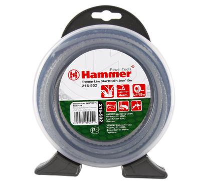 Леска для триммеров HAMMER TL SAWTOOTH 3.0mm X 15m