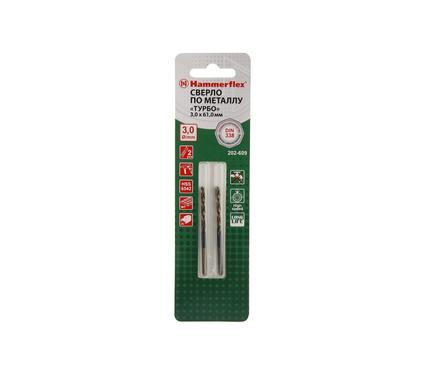 Сверло по металлу HAMMER 202-609 DR MT 3,0мм*61мм