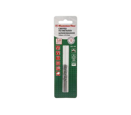 Сверло по металлу HAMMER 202-149 DR MT 3,0мм*61мм