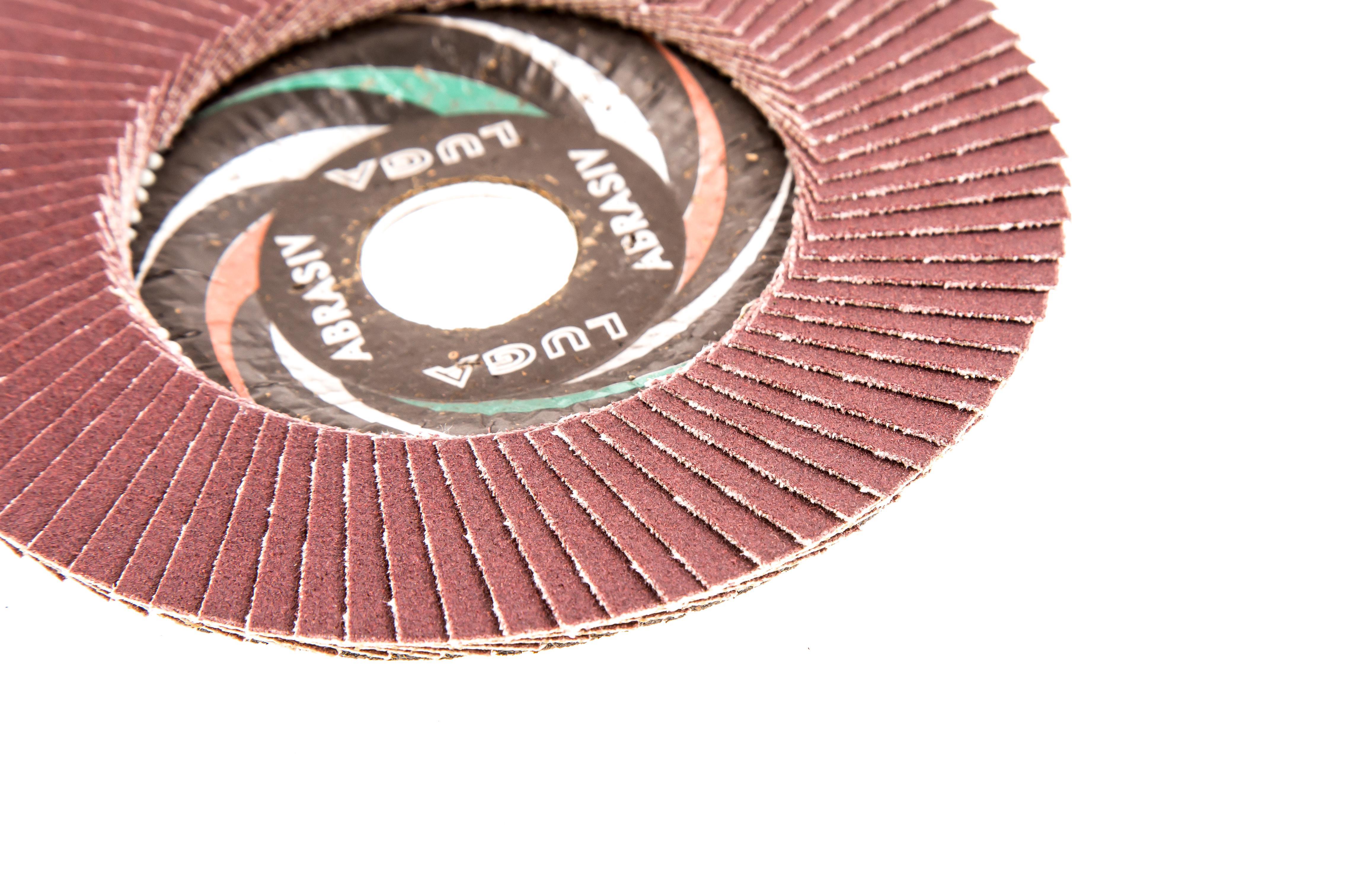 Круг Лепестковый Торцевой (КЛТ) ЛУГА-АБРАЗИВ КЛТ1 125 Х 22 Р180 (№8) от 220 Вольт