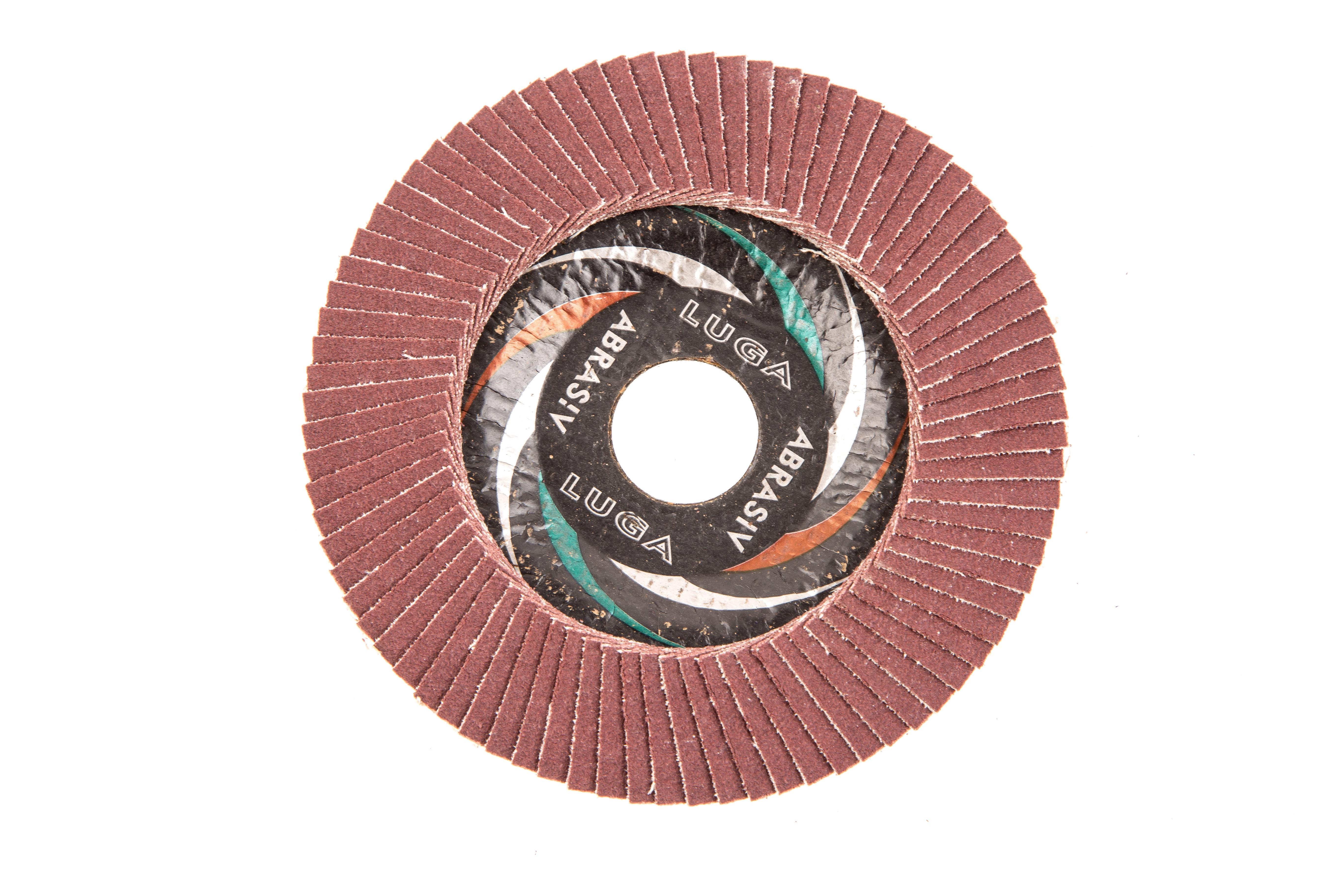 Круг Лепестковый Торцевой (КЛТ) ЛУГА-АБРАЗИВ КЛТ1 115 Х 22 Р180 (№8) от 220 Вольт