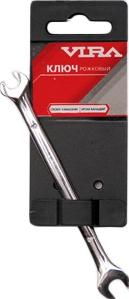 Ключ гаечный рожковый 8х9 Vira 5110140 (8 / 9 мм) ключ гаечный комбинированный vira 511004 9 мм