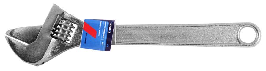 Ключ гаечный разводной Kroft 202114 (0 - 19 мм) ключ гаечный разводной kroft 202111 0 20 мм