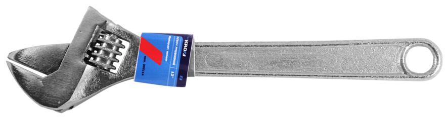 Ключ гаечный разводной Kroft 202112 (0 - 28 мм) ключ гаечный разводной kroft 202111 0 20 мм