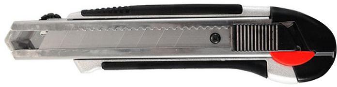 Нож строительный Vira 831308  18мм  металл.корпус нож обойный 18мм 8 лезвий центроинструмент 0212 8