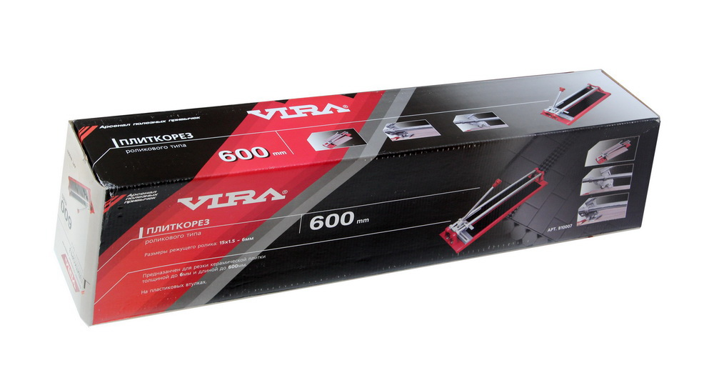 Плиткорез ручной рельсовый Vira 810007  роликового типа  600 мм с линейкой и держателем