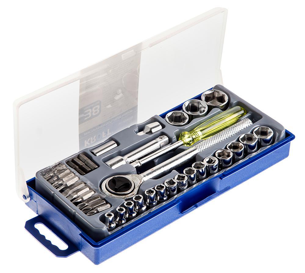 Набор торцевых ключей Kroft 203038, 38 предметов набор комбинированных ключей kroft 12 предметов