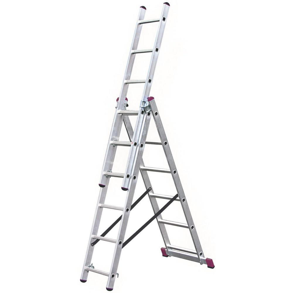 Лестница алюминиевая складная Krause Corda 10360 лестница krause corda ks 013392 3х9 универсальная рабочая высота 6 2м