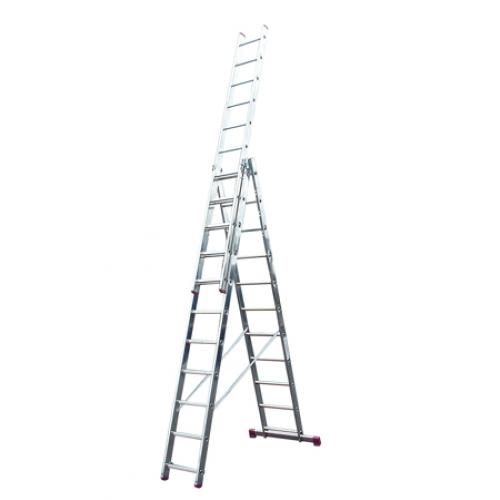 Лестница алюминиевая Krause Corda 10391 лестница krause corda ks 013392 3х9 универсальная рабочая высота 6 2м