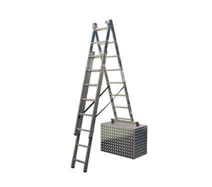 Универсальная лестница трехсекционная KRAUSE CORDA 13385