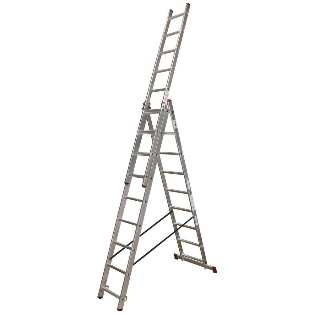 Лестница Krause Corda 13392 лестница krause corda ks 013392 3х9 универсальная рабочая высота 6 2м
