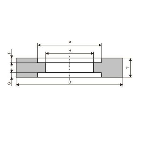 Круг шлифовальный ЛУГА-АБРАЗИВ 7  250 Х 20 Х 76  ПВД от 220 Вольт