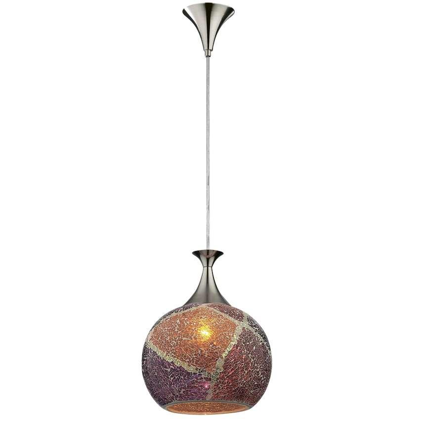 Светильник подвесной Odeon light 2093/1 подвес terro 1х60вт е27 хром мозаика