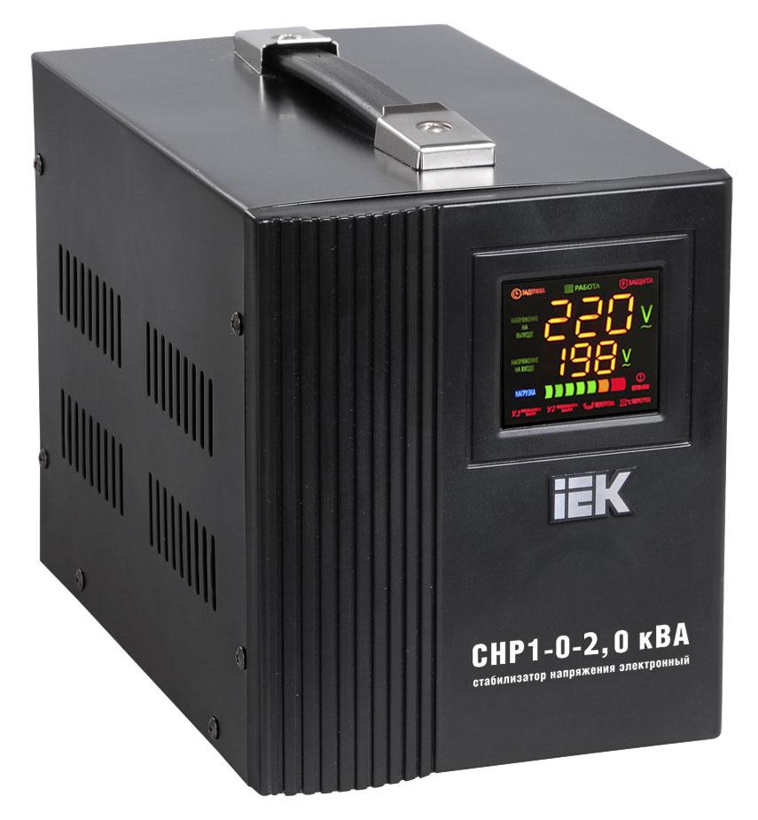 Стабилизатор напряжения Iek СНР1-0- 2 кВА стабилизатор напряжения iek boiler 0 5ква