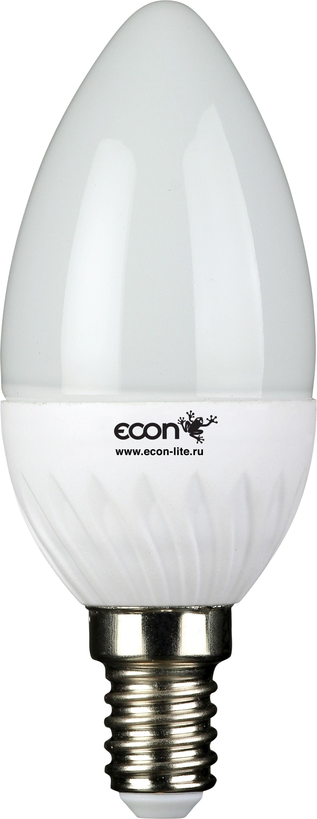 Лампа светодиодная Econ Led cn 5Вт e14 4200k b35 лампочка econ led cnt 7w 3000k e27 b35 27121