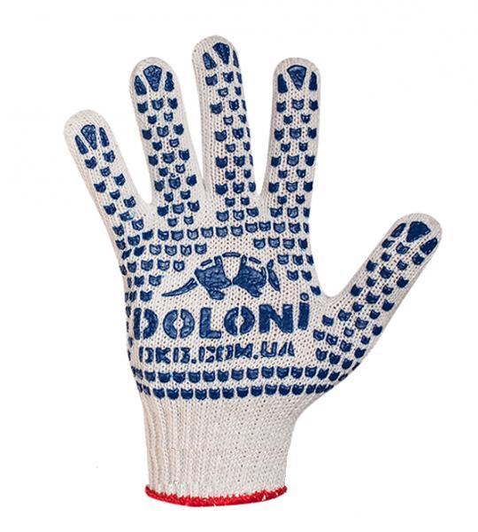 Перчатки ПВХ Doloni 547 с точкой ПВХ