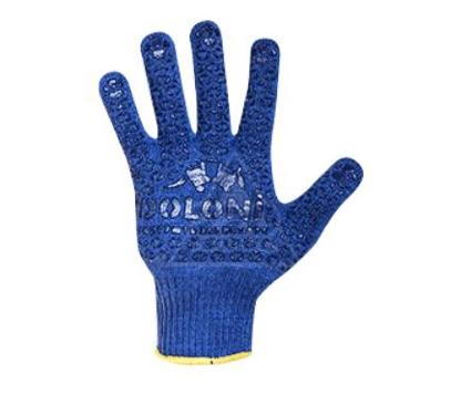 Перчатки ПВХ DOLONI 646  с точкой ПВХ