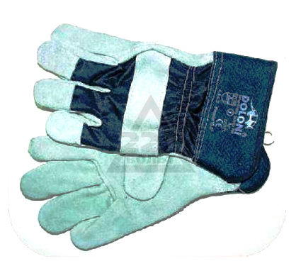 Перчатки спилковые DOLONI 4503  комбинированные, спилок+ткань
