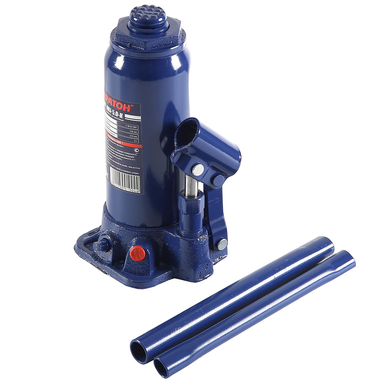 Бутылочный гидравлический домкрат КРАТОН Hbj-5.0-k домкрат гидравлический бутылочный sparta 2т 148 278мм 50321