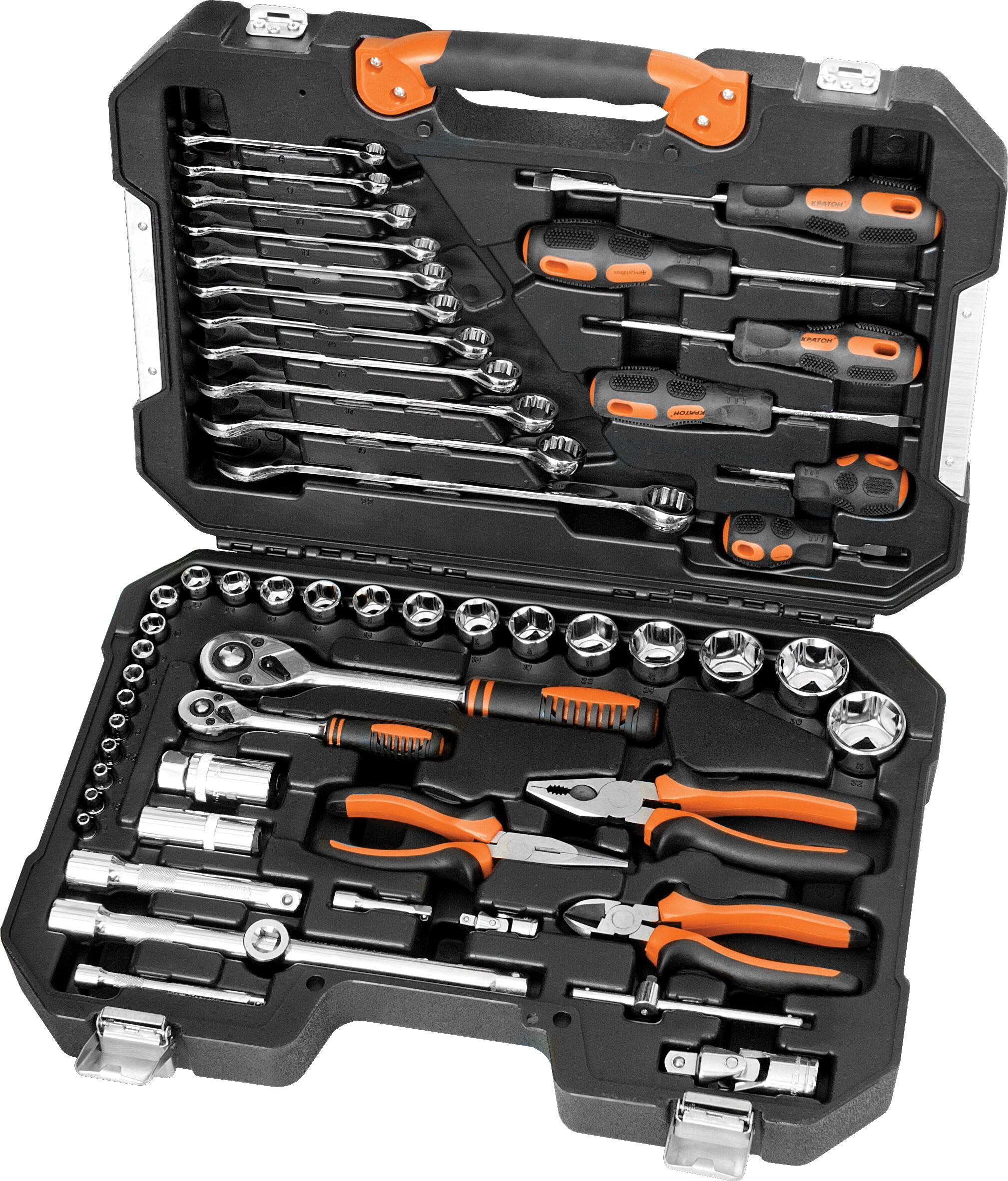 цена Набор инструментов в чемодане, 55 предметов КРАТОН Ts-24 онлайн в 2017 году