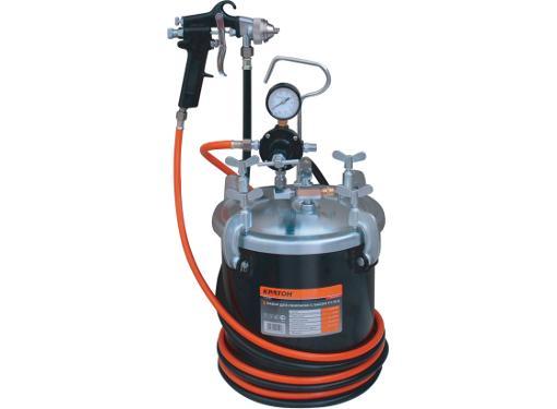 Набор пневмоинструмента КРАТОН PT-01G для покраски с баком