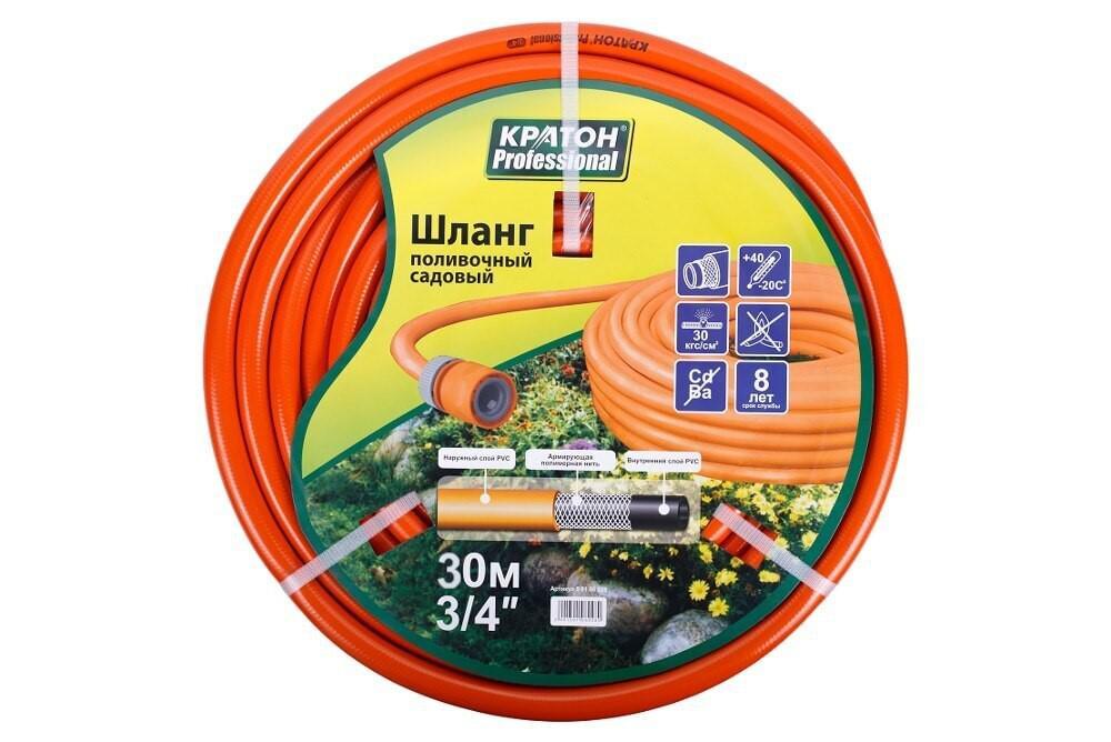 Шланг КРАТОН Professional 3/4'', 30 м шланг поливочный skrab 3 4 длина 25 м 20 bar цвет серый 28225