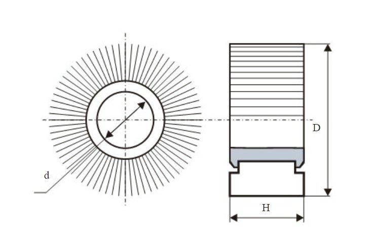 Круг Лепестковый Радиальный (КЛ) ЛУГА-АБРАЗИВ 150 Х 30 Х 32  Р320 (М50) vsm от 220 Вольт