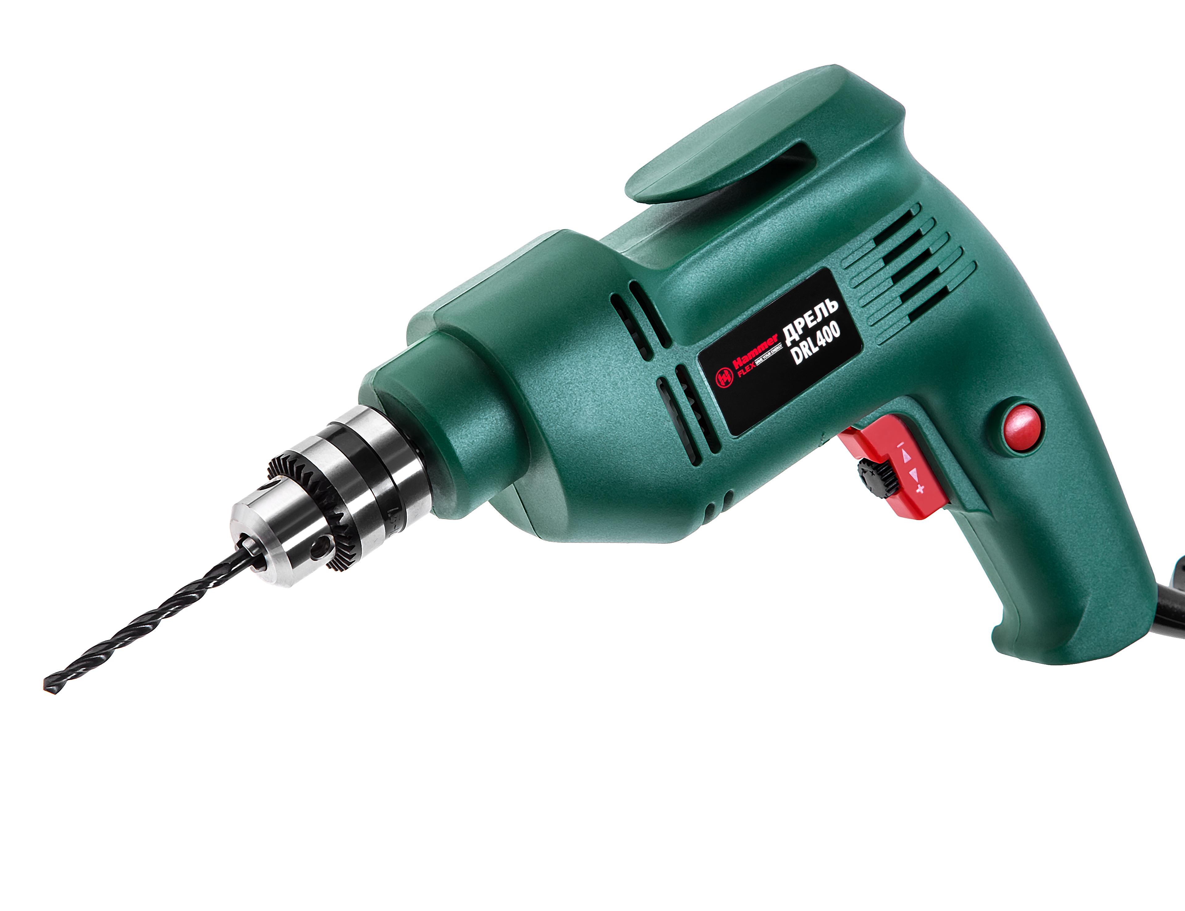 Дрель Hammer Flex drl400 дрель hammer flex drl400