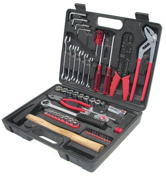 Набор инструментов в чемодане, 100 предметов Fit 65101