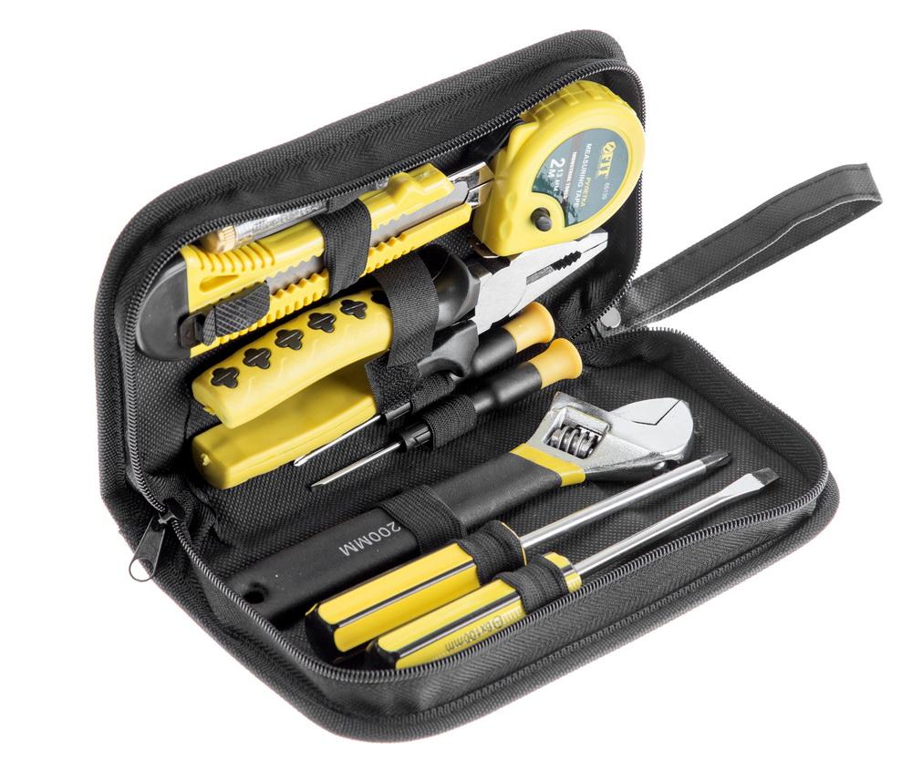Набор инструментов в пенале, 9 предметов Fit 65139 набор инструментов в сумке на молнии 17 предметов unipro u 780