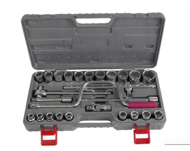 Набор торцевых головок с принадлежностями, 26 предметов Fit 65244 набор торцевых головок stanley и комбинированных ключей 40 предметов 1 99 056