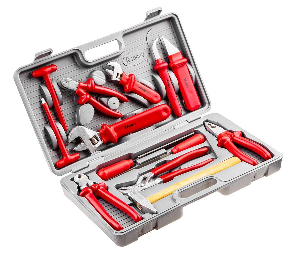 Набор диэлектрического инструмента, 13 предметов Fit 65312 набор инструмента сервис ключ 17 предметов 1 4